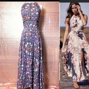 JAASE Endless Summer Purple Floral Boho Dress